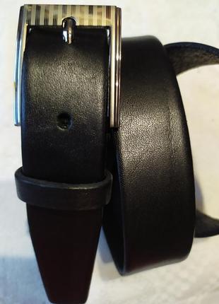 Детский подростковый кожаный пояс ремень черный в наличии