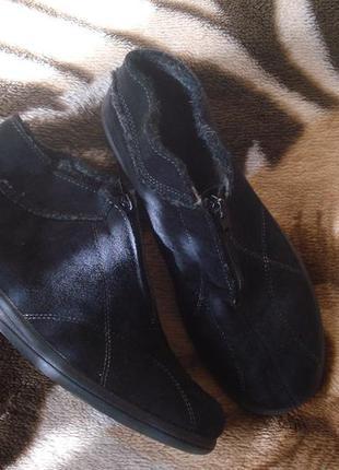 Rohde фирменные утепленные ботинки на широкую ножку