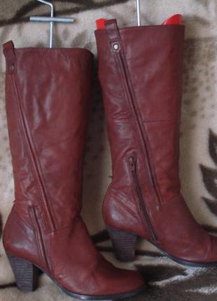 Vagabond 38-39 р. фирменные демисезонные кожаные сапоги