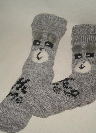 """Очень теплые зимние носки""""зайчики"""""""