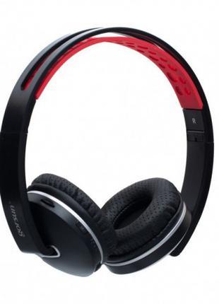 Беспроводные Bluetooth наушники Gorsun GS-E85 Чёрный с красным.