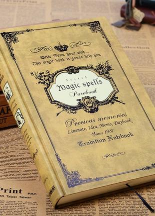 Записная книжка, дневник MAGIC SPELLS Yellow B5 M01
