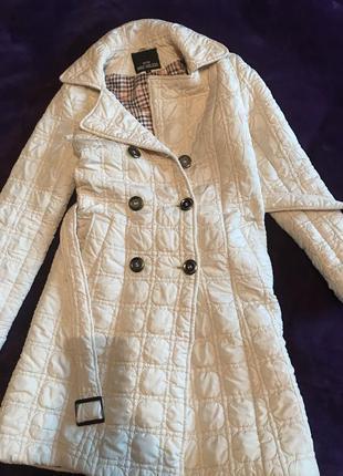 Белое коттоновое пальто