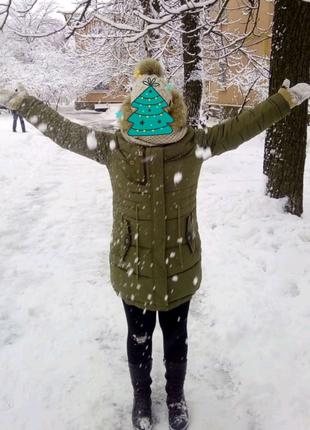 Зимняя куртка для девушки, женщины с натуральным мехом