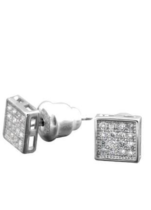 Серьги серебро 925 гвоздики лк0087