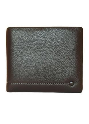 Мужской кожаный кошелек на магните vereva черный