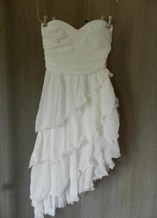 ✅новое платье бюстье с воланами сетка