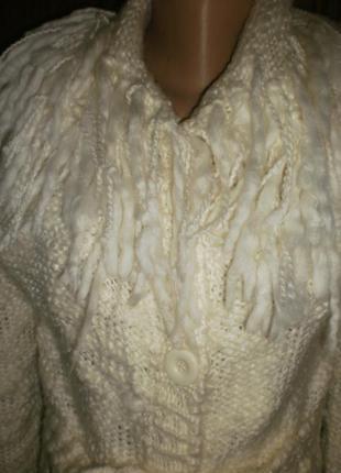 Шикарний модний вязаний кардиган на пуговичках воротник під ламу