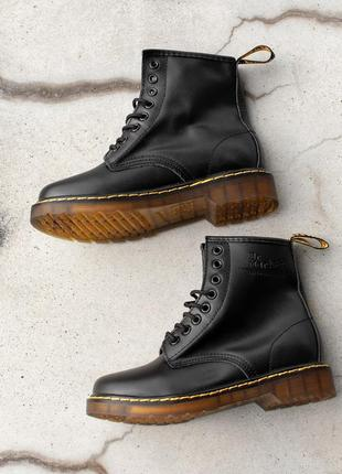 🔥dr. martens 1460 black🔥мужские кожаные демисезонные чёрные бо...