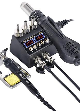 JCD-8898 паяльная станция 750W, термофен, паяльник