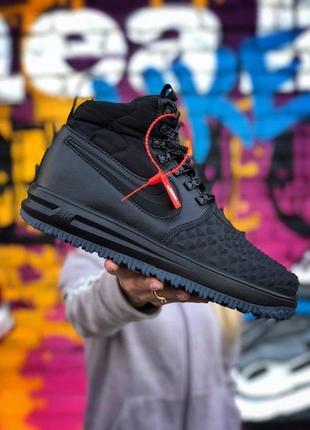 Nike air lf1 duckboot 17 black. мужские демисезонные кроссовки...