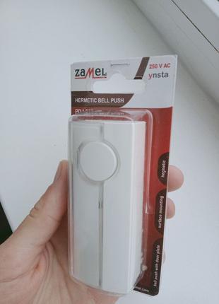 Кнопка дзвінка без підсвітки 10 А 250В IP44 білий