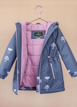 Детская куртка на девочку, демисезонная, подростковая