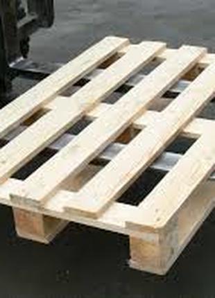 Поддоны паллеты деревянные 1000х1200 и 800х1200мм 1-й сорт б/у,