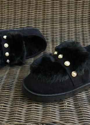Угги короткие, слипоны тапочки на меху, автоледи ботинки осенн...