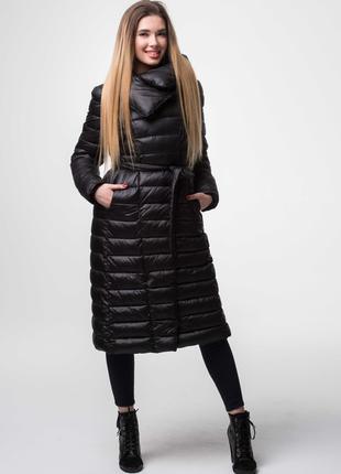 Женское черное пальто куртка Ann Gissy