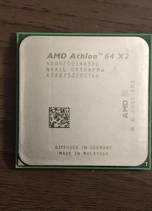 Процессор AMD Athlon 64x2 5200(2 ядра по 2.7Ghz)Socket AM2/AM2+