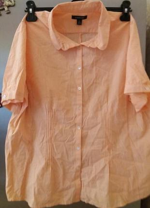 Блуза-рубашка-lands end--16 18р  распродажа