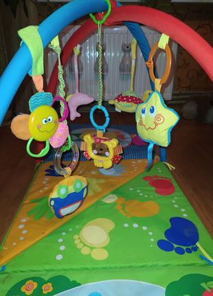 """Развивающий детский коврик Chicco 3 в 1 """"3D Baby Park"""", игрушки,"""
