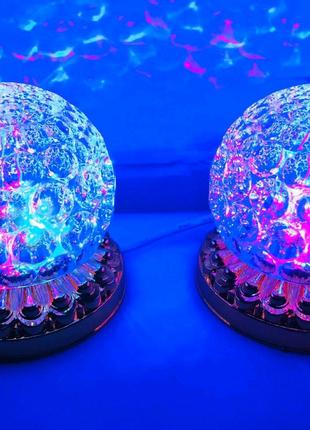 Яркая, Вращающаяся диско лампа Led full