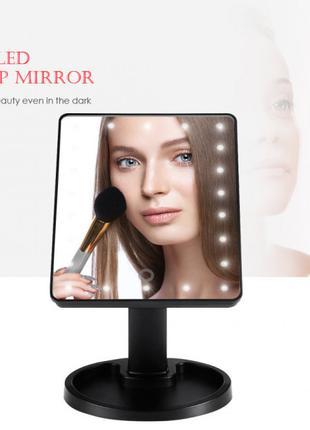 Косметическое настольное зеркало для макияжа 22 LED на батарейках