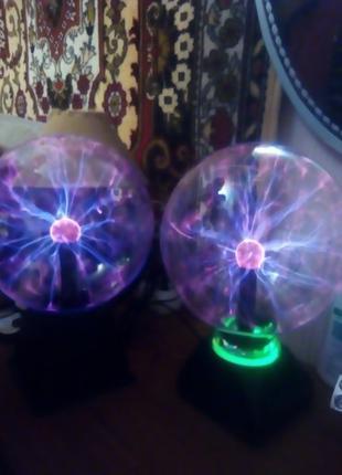 Светильник - Плазменный шар самый большой -64см,шар-молния.
