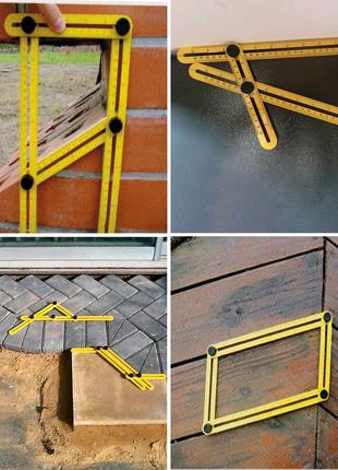 Угол, инструмент измерительный, шаблон четырёхсторонний