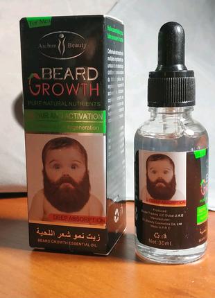 Масло для бороды и волос (стимулирует рост шикарной бороды)