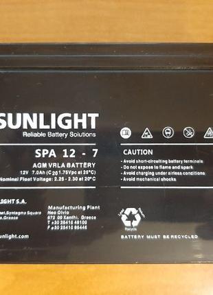 Аккумуляторная батарея SUNLIGHT SUNLIGHT SP12 - 7 (12 вольт 7 ...