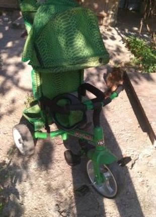 Велосипед с родительской ручкой tilly trike zoo