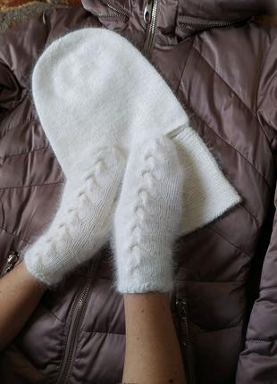 Комплект ( шапка, рукавички, снуд), пух норки