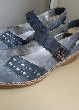 36 p.  rieker кожаные комфортные босоножки сандалии сабо