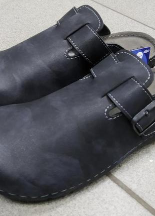42,43,44,45,46 рр. inblu новые мужские шлепанцы тапочки сабо