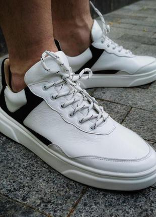 Мужские кеды - обувь (натуральная кожа)