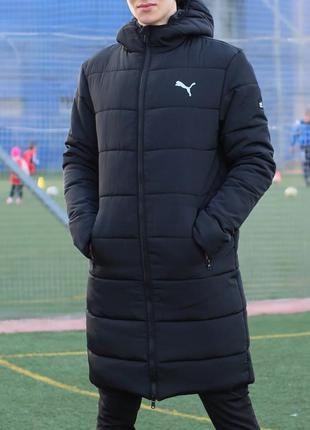 Удлиненная зимняя куртка puma