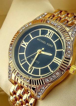 Женские наручные часы michael kors a152-1 золотого цвета с чер...