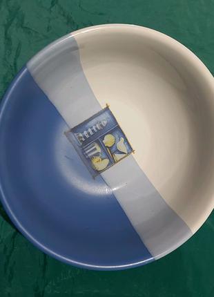 Фаянсовая тарелка под морепродукты. Австрия.