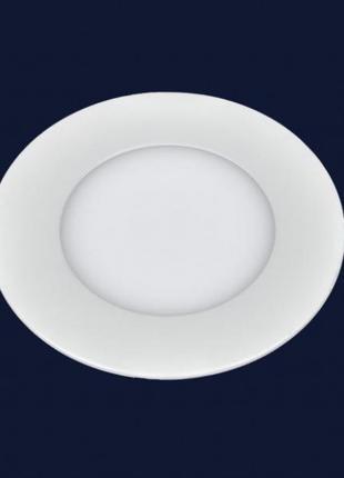 Светодиодный врезной LED светильник 6W круг 4000К