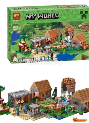 Конструктор Майнкрафт Деревня Minecraft 1622 деталей.