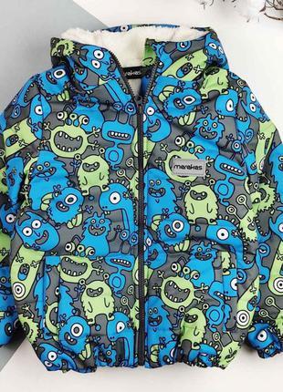 Теплая демисезонная  куртка для мальчика еврозима