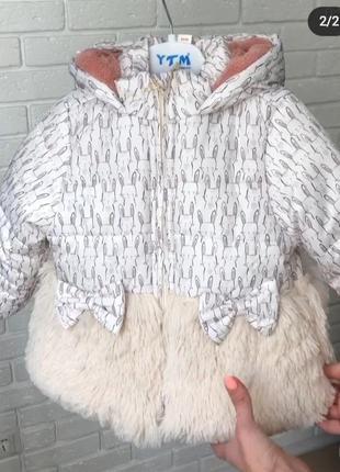 Куртка демисезонная еврозима  с ушками для девочки