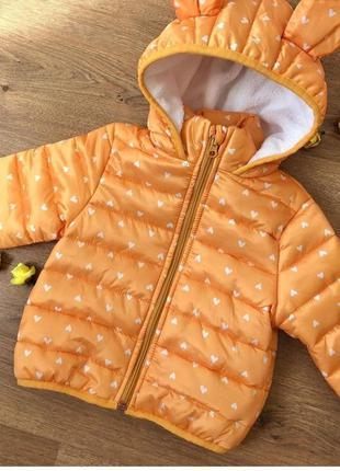 Куртка демисезонная с ушками для девочки