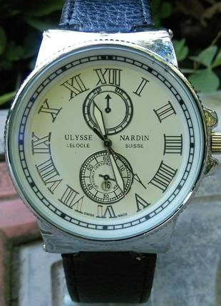 Мужские наручные часы ulysse nardin silver   в наличии  