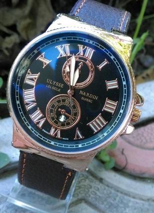 Мужские наручные часы ulysse nardin с датой!   в наличии  
