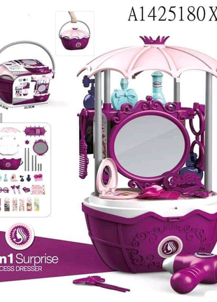 Игровой набор для девочек, детский туалетный столик с зеркалом