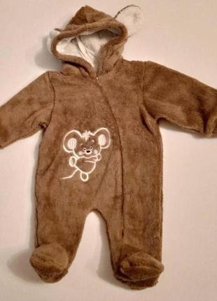 Махровый комбинезон, одежда для новорожденных