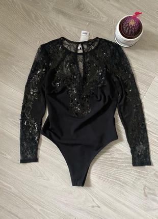 Нарядное боди блузка Asos