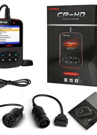 Launch CR-HD Диагностический Сканер OBD2 для Грузовиков, 12 и 24В