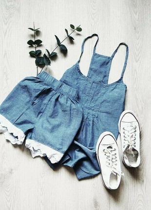 Летний комплект или женская пижама домашний костюм, кружево es...