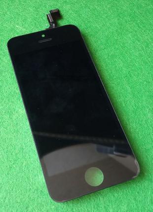 Дисплей экран iPhone 5S, SE с тачскрном, сенсором черный